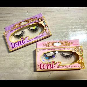 IONI 3D FAUX MINK lashes 100% HAND MADE vegan